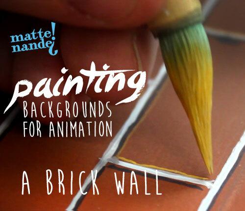 Achtergrond Schilderen voor Animatie: Stenen Muur