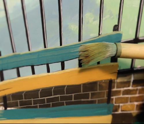 Achtergrond schilderen voor animatie