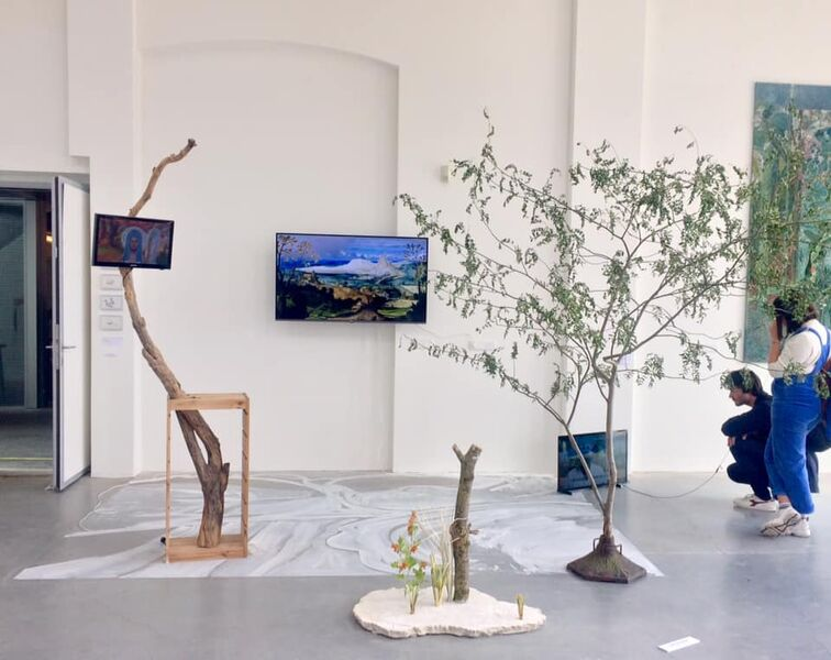 Video-installatie / kunstactie 'Maria Was Here'